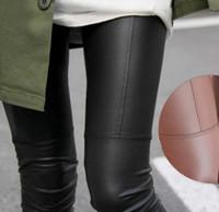 Wholesale Leather Patch Leggings - Wholesale- Women Faux Leather Patch Leggings 2017 New Arrivals