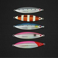 Wholesale Dyna Led - Mixed 5 Colors Dyna Jigging Slow 130gr Fishing Flutter Jig Lure of Fishing Tackle and Metal Luminous Baits Saltwater Hard Lead Lure