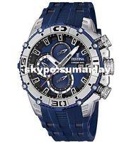 Wholesale Quartz Analogue Watch - F16601 1 Blue Rubber Strap Blue Dial Chronograph Analogue Men's Watch smartwatch electron watch