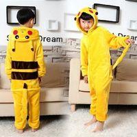 Wholesale Children S Christmas Pyjamas - Wholesale!Pikachu Outfit Pajamas Cosplay Costume Pyjamas Onesies child Adult RomperCostume have Size Adult S M L XL Please Check Below siz