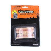 Wholesale Tooth Decor - 7.5*2.5Cm Halloween Decor Prank Props Funny PVC False Teeth Prank Vampire Teeth Party Decoration Halloween Supplies