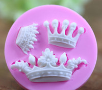 Wholesale 3d Silicone Cake Moulds - Baking Tools For Cakes Reposteria Bakeware New Arrival Imperial Crown Shaped 3d Cake Fondant Mold Decoration Tools Drop Shipping TY1790