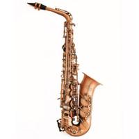 Wholesale Copper Alto Saxophone - Wholesale-2016 New Black Saxophone Alto Saxophone EX Antique Copper Simulation Musical Instruments Professional E Flat Sax Alto Saxofone