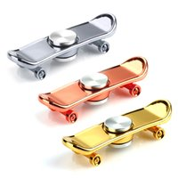 Wholesale Metal Scooters - Hand Spinner Finger Skateboard Alloy Holder Scooter Skate Metal Fidget Spinner Finger Toy For Autism ADHD Relieve Stress Toys