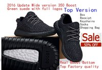 Wholesale White Pirate Top - Free DHL 2016 Real Boost Bottom Pirate Black Top Factory Quality 350 Boost Running Shoes With Double Box Receipt Socks Keychain Shopping Bag