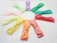 Wholesale Soft Band For Hair - 60pcs cotton girl baby Wave point Turban Twist Headband Head Wrap Twisted Knot Soft Hairband Headbands for girl HeadWrap hair band FD6521