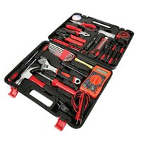 Wholesale Electrical Tools Sets - 35pcs Hand Household Electric Tool Kit Set Combined Home Electrical Tool Set Domestic Portable Repairings Power Manual Tools Kit