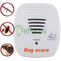 Wholesale Electronic Pest Control Machine - Wholesale-Electronic Ultrasonic Mouse Mosquito Rat Pest Control Repeller Bug Scare Machine #12723