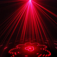 Wholesale disco laser light remote control - Led Laser Stage Light Red and Green 40 Pattern Effect Projector Lighting with Remote Control KTV Party Disco Lamp Night Light