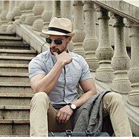 Wholesale White Paper Straw - Wholesale-Retro Men Summer Fedora Hat Trilby Gangster Cap Summer elope Gentleman Beach Sun Straw Panama Hat Sunhat 12