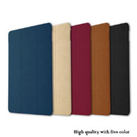 Wholesale Top Inch Tablets - Top Quality Luxury Smart Flip PU Leather Cover Pouch for Ipad pro 9.7'' inch Sleep Wake Up Stand Tablet Protective Cover Case