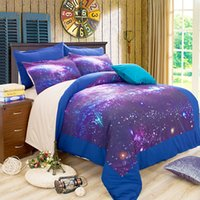 Wholesale Digital Printed Galaxy - Hot! 3D Galaxy Series Bedding Set 2PC-3PC Digital Printing Duvet Cover Set Adult Children Quilt Cover Pillow Case Twin Full Queen King Size