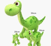 Wholesale Good Halloween Movies - 3 styles 20 30 50 High The Good green Dinosaur Arlo Dinosaur Cute Pixar Movie Stuffed Animals Plush Soft Toys for Children gifts