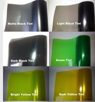 20 Rolls / lot lCar Headlights Tinting Headlamp Luz de película de tinte luz de humo negro, azul, orange.yellow.pink, green.red.purple. 0.3x10m / Rodillo