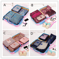 Wholesale Hot Shoe Dual - Hot 6pcs set Travel Storage Bags Shoes Clothes Toiletry Organizer Luggage Pouch Kits Wholesale Bulk Lots Accessories Supplies Stuff