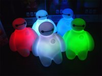 Wholesale Wholesale Toys For Chrismas - Wholesale- Xmas New Colors Changing Creative Cartoon Baymax LED toy Night Light Decoration Lamp Nightlight,great gift for kids chrismas