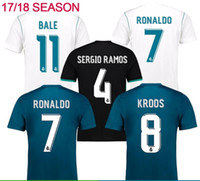 Wholesale Thai Wholesale Soccer Jerseys - DHL shipping factory selling 2017 2018 Soccer Jersey 17 18 Real Madrid Home Away 3rd Soccer Jerseys top thai Ronaldo ASENSIO Jeresys