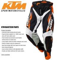 Wholesale Dh Pants - Brand-High Quality Men KTM Racetech Pants Motorcycle Dirt Bike MTB DH MX Riding Trousers KTM motocross racing pants free shipping
