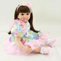 "Wholesale China Comic Dress - 22"" Adora Toddler Girls Baby Doll Long Hair Girls Soft Baby Girls toys With Lovely Princess Doll Dress"