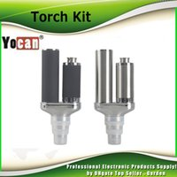 Wholesale Ecig Kits - Authentic Yocan Torch Vaporizer Kit Wax Pen With Quartz Dual Coil Portable Wax Pen and Dry Herb Ecig Kits 100% genuine DHL Free 2204027