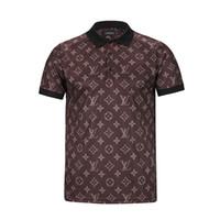 Wholesale Dot Print Clothing - Italy Newest Fashion Wave Of Men 3D Floral Print Luxury Brand Clothing Harajuku Casual Polo Shirts Short Sleeve Men,Medusa Business Men's