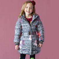 Wholesale Wholesale Long Parka - Kidsalon Girls Winter Coats 2017 Brand Kids Jackets for Girls Down Parka Printed Hooded Long Children White Duck Down Outerwear