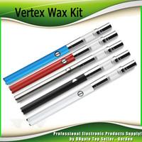 Wholesale battery manual - Authentic Airis Vertex Wax Premium Kits 280mAh Manual Battery Kit Quatz Dual Coil Vape Pen W3 tank Atomizer AirisVape 100% Genuine