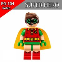 Wholesale Robin Hot Toys - Hot Sale Robin Minifigures marvel DC Super Heros figures Spiderman Batman Deadpool Joker Iron Man Building Blocks Toys For Children