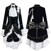 kahya kostümleri toptan satış-Siyah Butler Ciel Phantomhive Cosplay Kostüm