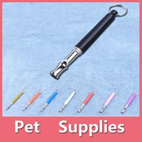 Wholesale Stainless Steel Dog Whistle - Dog Training Whistle Pets Training Dog Adjustable Sound Whistle Best Obedience Training And Bark Stopper Control Device DHL Free 161012