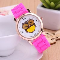 Wholesale Cheap Watches For Children - New Arrival Children Casual Quartz Watches Animal Owl pattern Cheap Watches for kid Rose Gold Cartoon Style Wristwatch