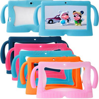 Tablettes En Gros Pour Enfants Pas Cher-Tablet PC Wholesale Sacs de cas Tablet Q88 Silicone Case Cover 7 pouces For Kids Gel Soft en caoutchouc Shock Housse de protection Preuve 100pcs Freeshipping
