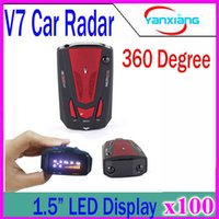 Wholesale Car Speed Test - by DHL or EMS 100% New Model Car Radar Detectors V7 for Car Speed Testing with 360 Degrees signals 100pcs ZY-LD-01