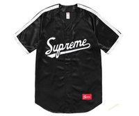 Wholesale Dj Blend - SUPREMAN SS17 satin casual V necked basebal Justin Bieber Dj Khaled black S-XXL neutral clothing