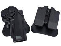 Wholesale Holster Tactical M92 - tactical gun holster molle magazine pouch defense pistol and magazine holster for M92 Airsoft(ht027)
