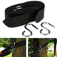Wholesale Strap Hang Rope - 2pcs Hammock hanging belt hammock strap rope with metal buckle Hook wholesale cheap price