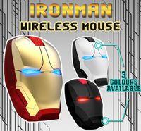 ojos de hombre de hierro al por mayor-Ratón de Iron Man Light popular E-blue Ratones de juego silencioso ergonómico 2.4G Ojos de emisión de luz fría Ratón inalámbrico USB para computadoras portátiles Computer Gamer