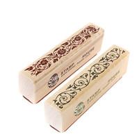 libros de recortes de diseño al por mayor-Diseño de la vendimia El mejor precio sello de encaje de goma de madera sello floral sello del libro de recuerdos Handwrite artesanía de la boda para la decoración