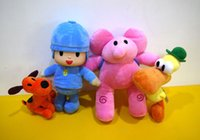 Wholesale Stuffed Plush Puppies - Pocoyo Plush Doll 4PCS Set TV Cartoon Pocoyo Toys Pink Elephant Elly Duck Pato Loula Puppy Dog Pet Stuffed Animals Children Chirstmas Gift