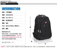 Wholesale Clear Vinyl Fabric Wholesale - Saber backpack shoulder bag men's business computer bag female Korean tidal bag sports bag large high school students