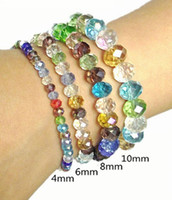 Wholesale Cheap Wedding Suppliers - Brand new cheap handmade fashion bracelets colorful stretch crystal bead bracelets for ladies girl Fashion Supplier jewelry