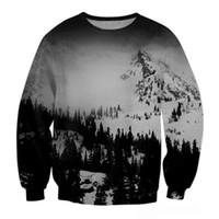 Wholesale Mountain 3d - Wholesale-2016 Brand Clothing Sweatshirt Men Snow Mountain 3D Hoodies Men Hip Hop Style Hoodie Men Pullover Sudaderas Hombre Size S-XL