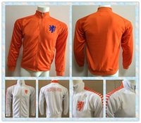Wholesale Holland Clothes - Fast 2016 Holland Netherlands White Orange Jackets clothes out tracksuit coat N98 Football Training soccer Jacket Jersey