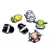 Wholesale Kids Safety Pins - Star Wars Pins Brooches Collar Breastpin Prevalent Jewelry Darth Vader Stormtroopers Yoda kids Cartoon badge safety pin 200076