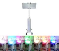 lámparas pdt al por mayor-Potente máquina de LED de terapia de luz PDT con lámpara de piraña para eliminar arrugas y acné Rejuvenecimiento de la piel con fotón de 7 colores