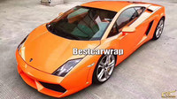 Wholesale Vinyl Sticker Pearl - ith Air Bubble Free ShinOrange Gloss Pearl shift Vinyl Wrap Car Wrap Film Magic orange glossy Wrapping foil Size:1.52*20m( 5x67ft)