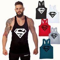 Compra Oro Superman-2017 Summer Style Superman Uomo Muscoli Fitness Tank Top Stringer maschio Bodybuilding Sports Tanks Vest
