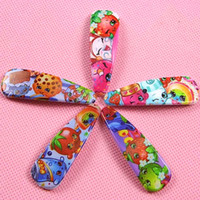 Wholesale Shop Wholesale Hair Color - Baby shopping season hair clips 5 colors baby girls hairbands hairpins girls cartoon hair ornament hairclip