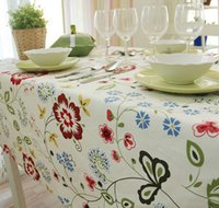 Wholesale Household Cotton Canvas table cloth table Pastoral Tablecloth Universal cover towel