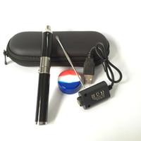 siyah ego mini toptan satış-Stokta orijinal Mini Evolve Wax Buharlaştırıcı Kalem Evolve-D Kuru Ot Başlangıç Kiti 650 mah eGo Iplik Bobinleri Balmumu yağı için Gümüş Siyah